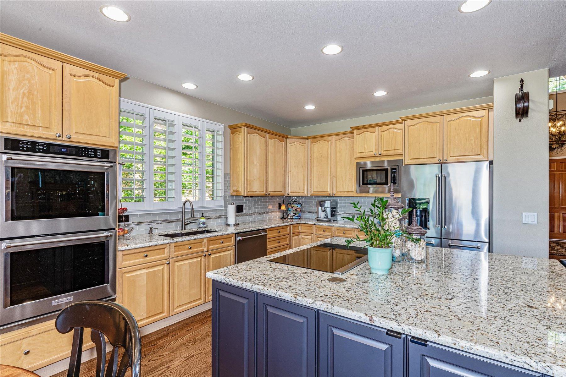 Newer Stainless Appliances in Gourmet Kitchen