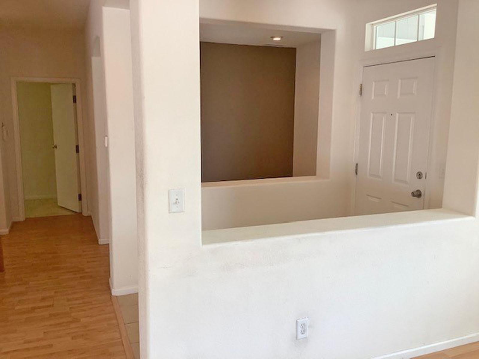Entry Foyer Sides Divides Living Room &  Office