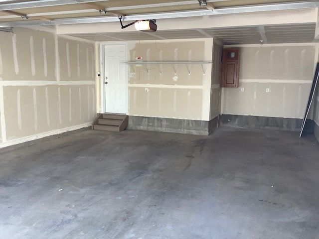 Oversized Two Car Garage with Bonus 8.6 x 6 Area