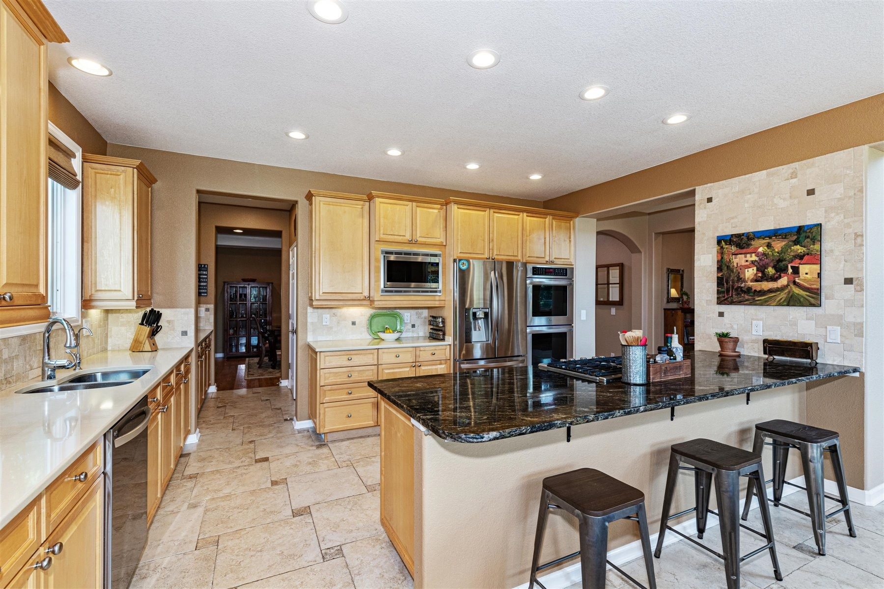 Large Tile Floors and Expansive Countertops