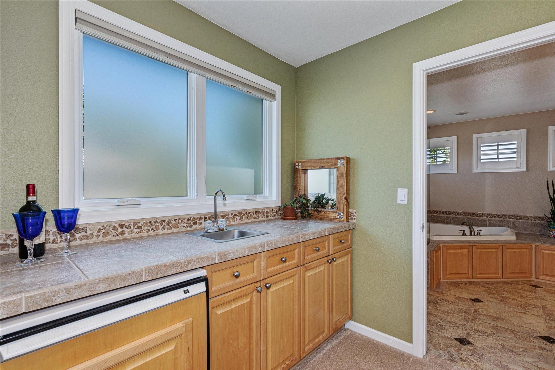 Midnight Kitchen in Master Suite