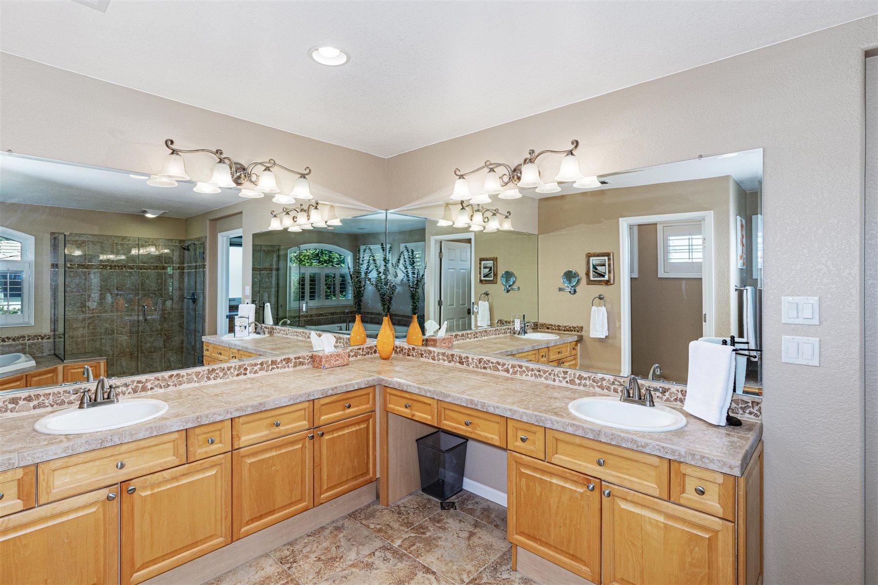Grand Master Bath with Dual Vanities