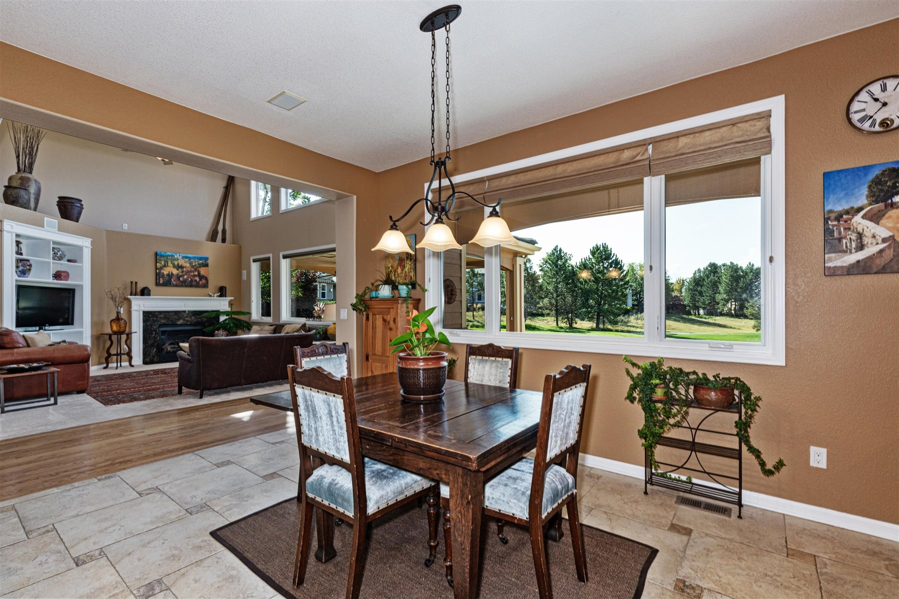 Kitchen Seating Opens to  Adjoining Great Room