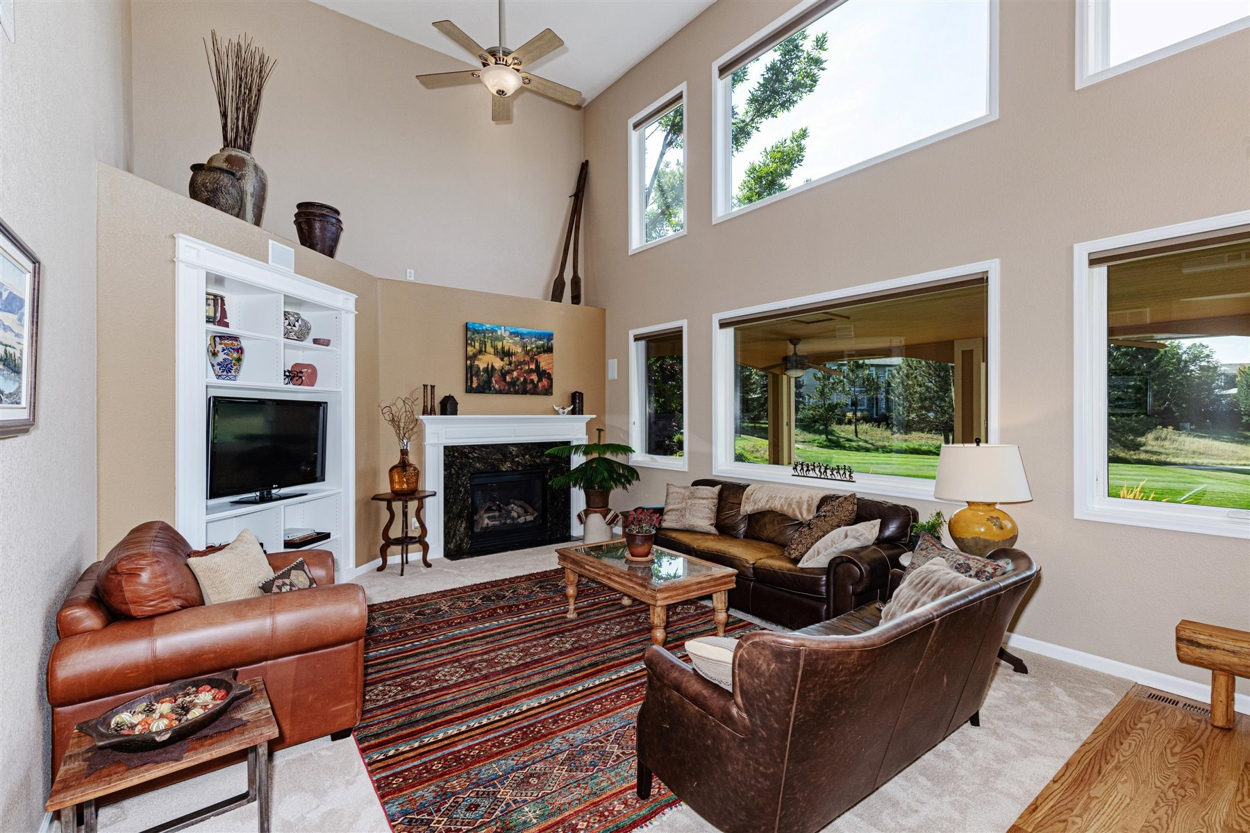Great Room with Gas Fireplace & Entertainment Nook