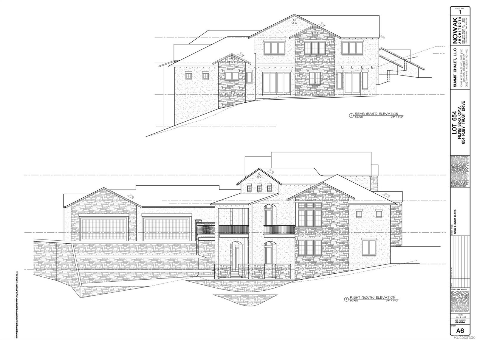 Rear and Right Elevations