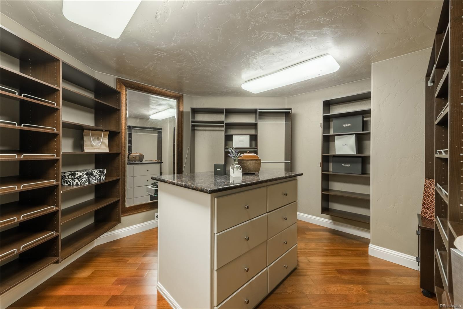 Master closet with custom built-ins