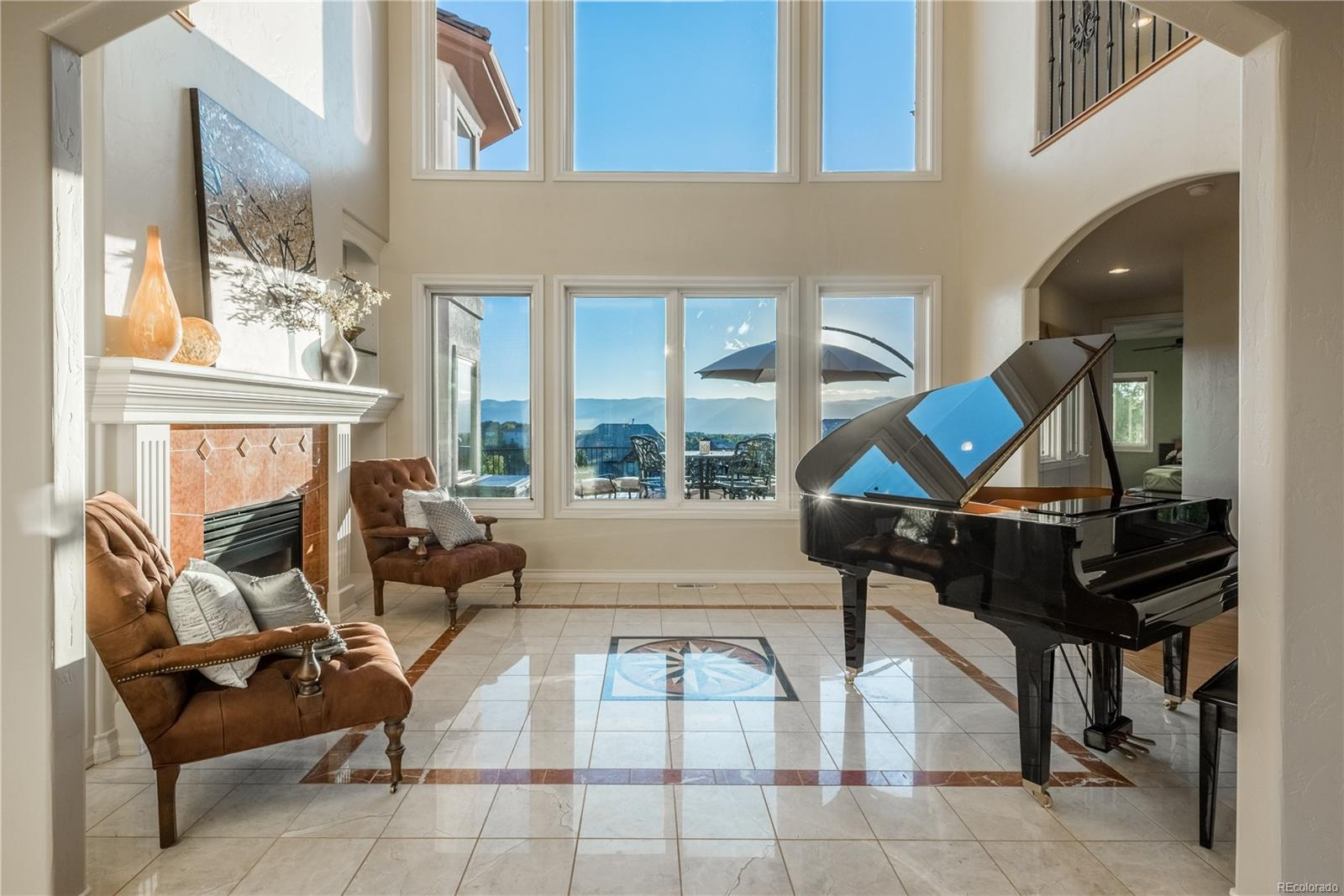 Formal two story living room.