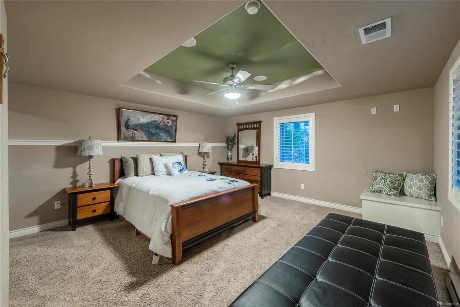 Basement bedroom with private bath