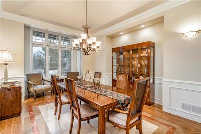 Formal dining area just off the foyer.