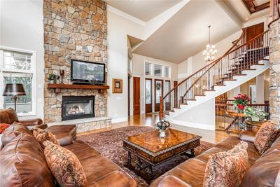 Soaring ceilings and fabulous finishes.
