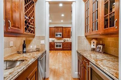 Butler's pantry is ideal for entertaining.