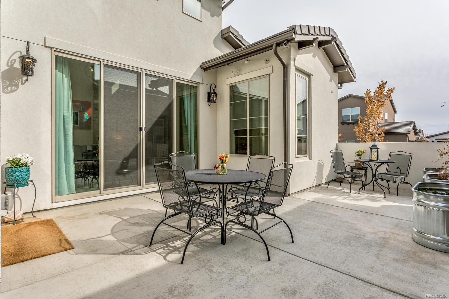 Expanded Patio and Upgraded Privacy Wall