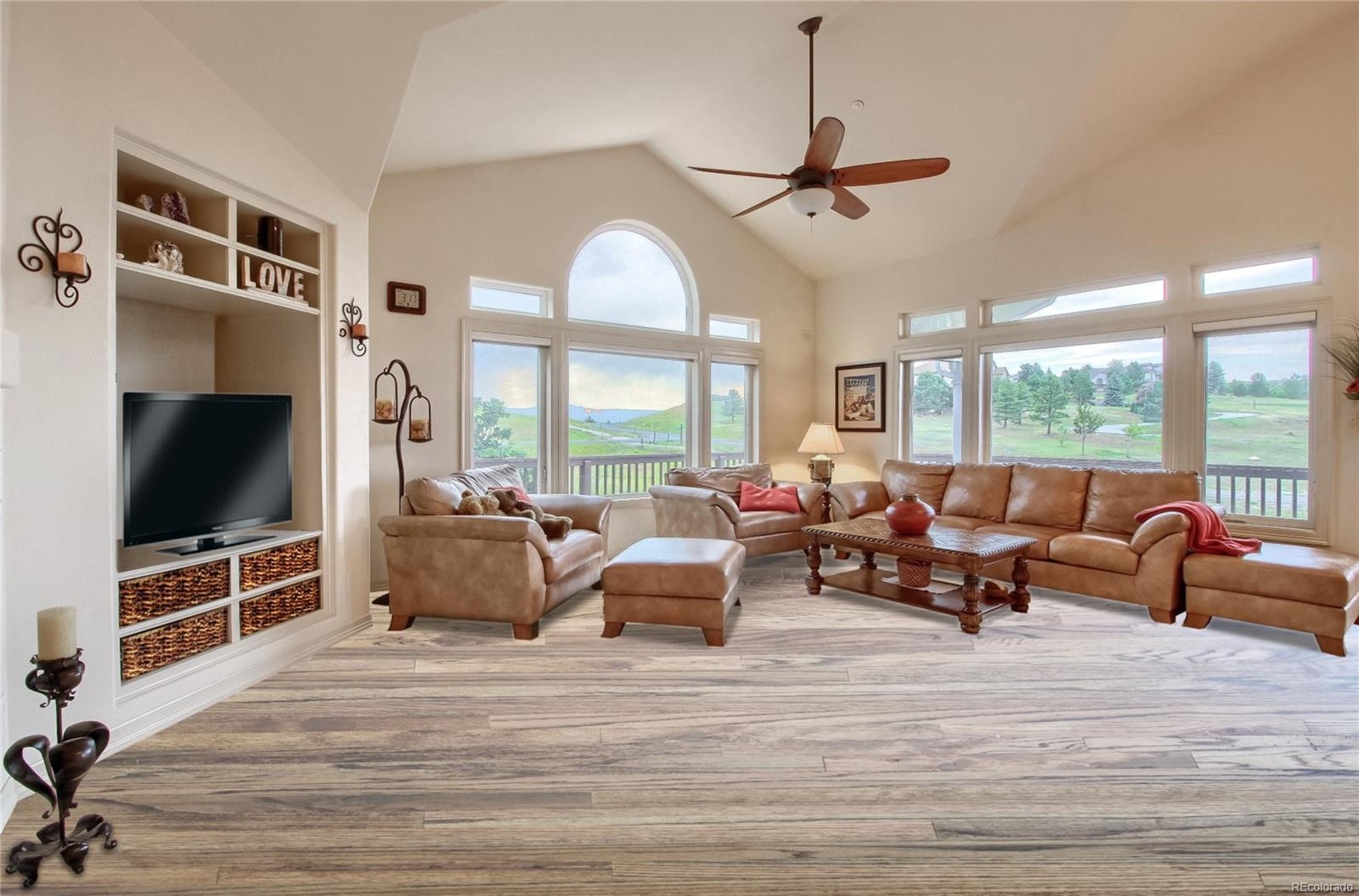 With proposed extended hardwood floors