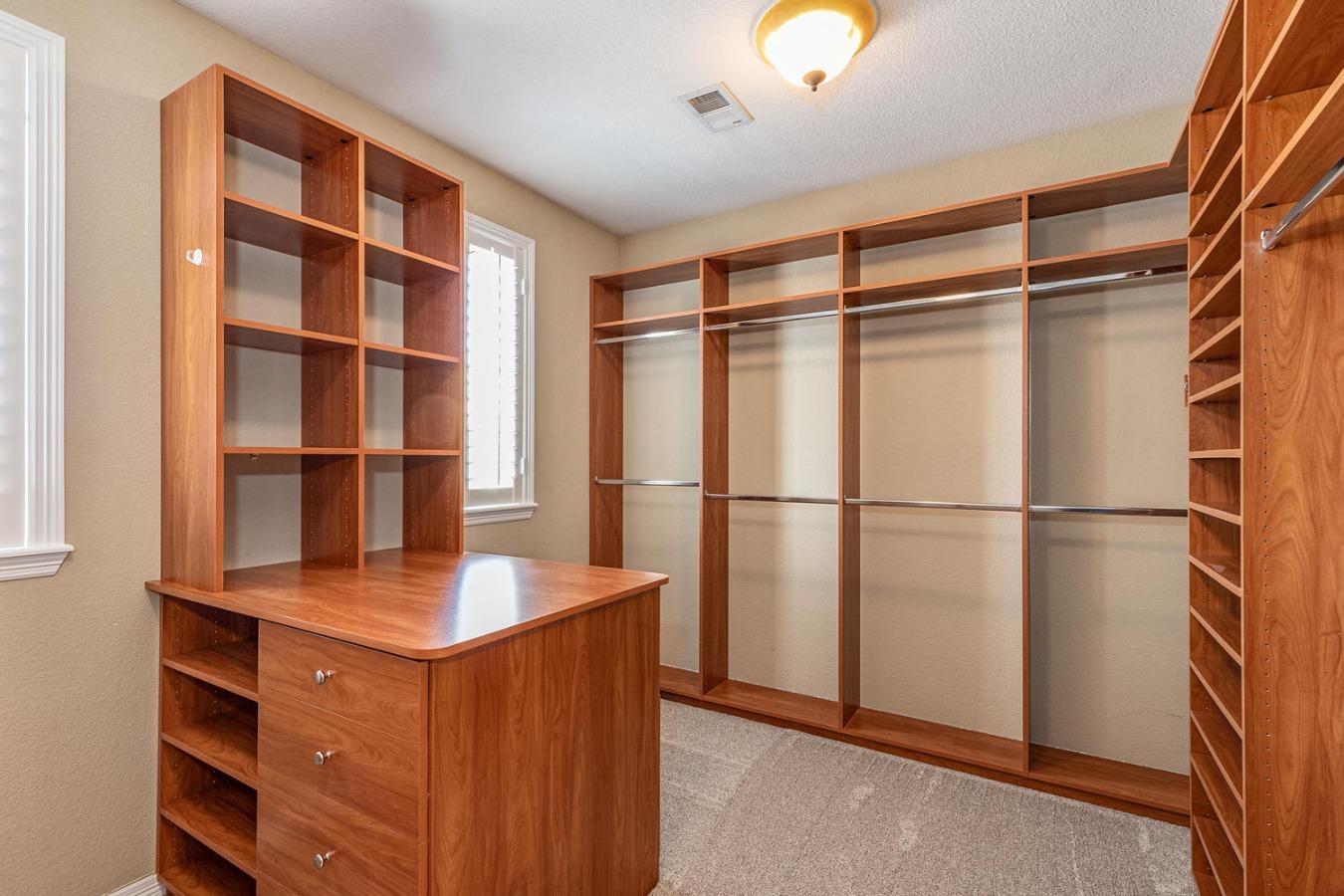 Master custom closet