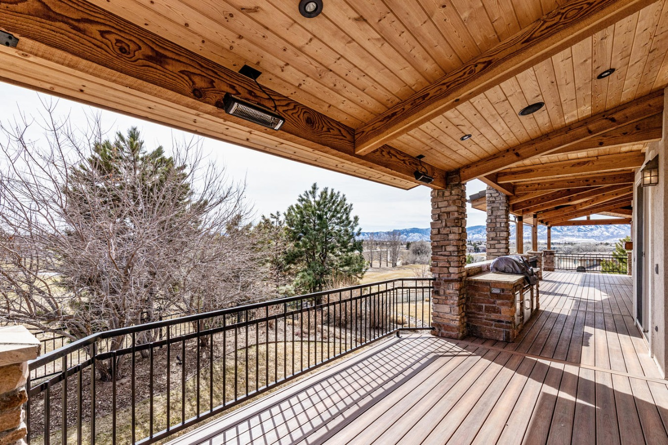 Covered main floor deck