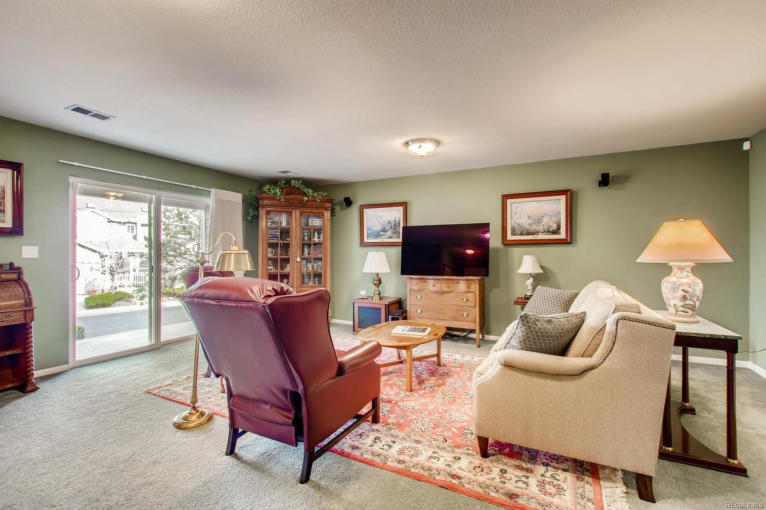 Walk out level family room
