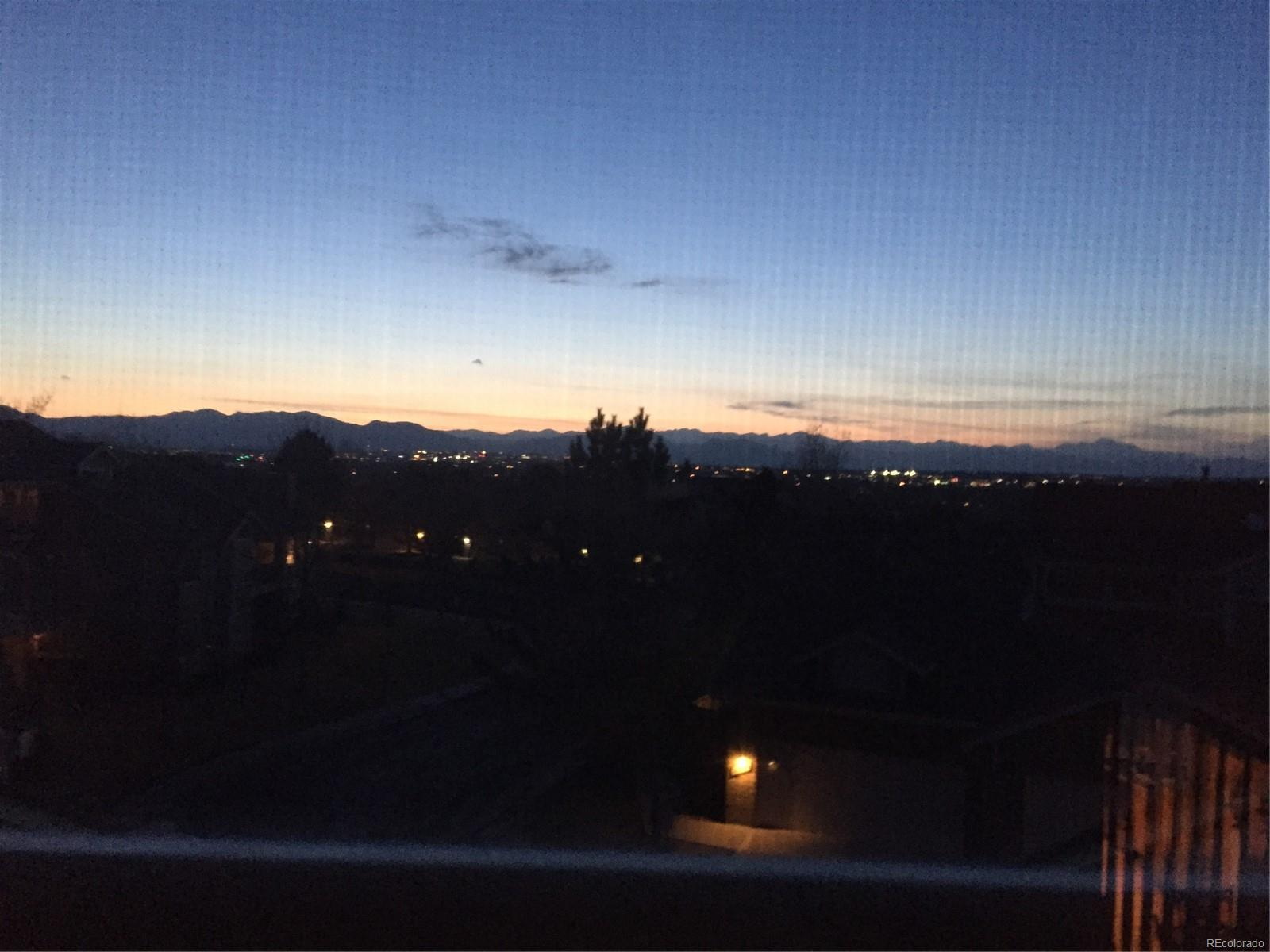 Mountain view after sunset
