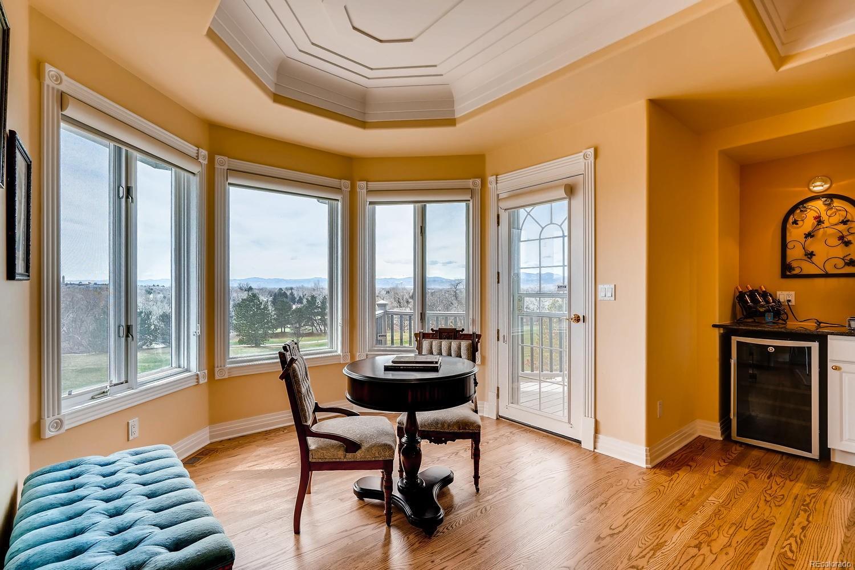 Upper level master bedroom suite sitting area