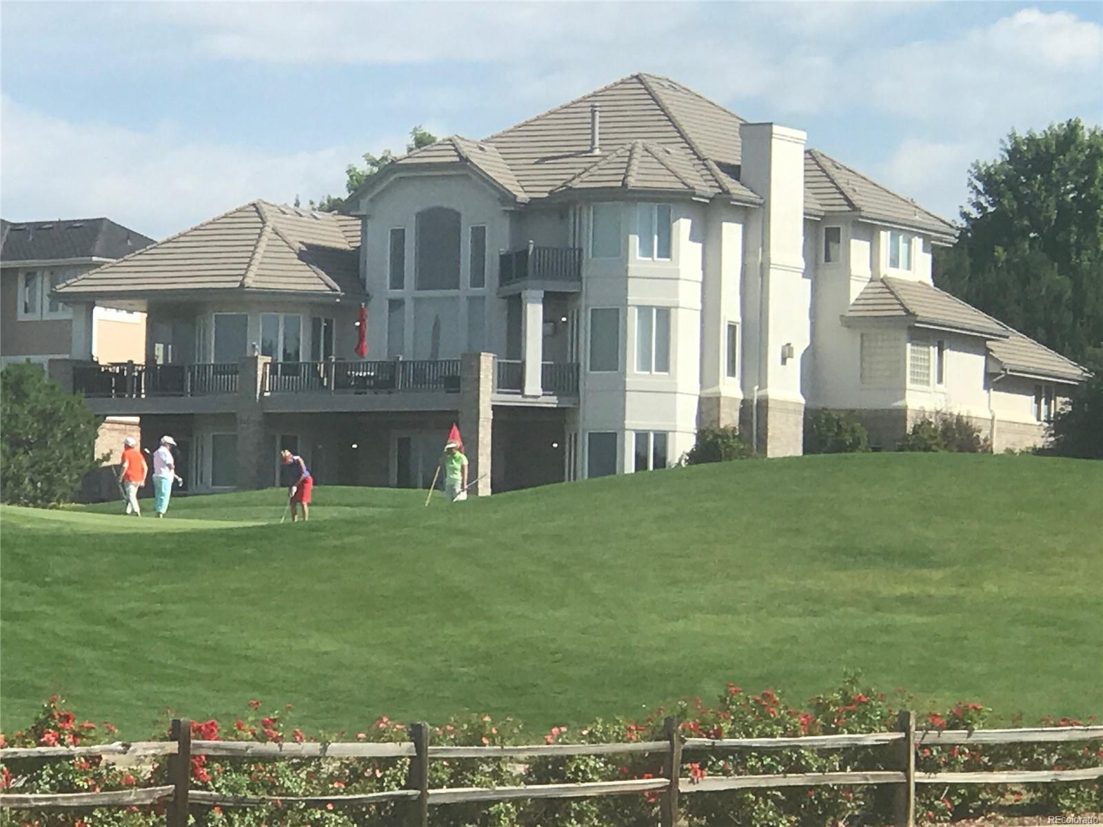 Backyard from golf course
