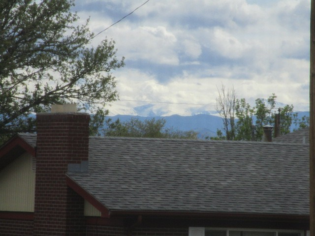 Mountain views from the front yard