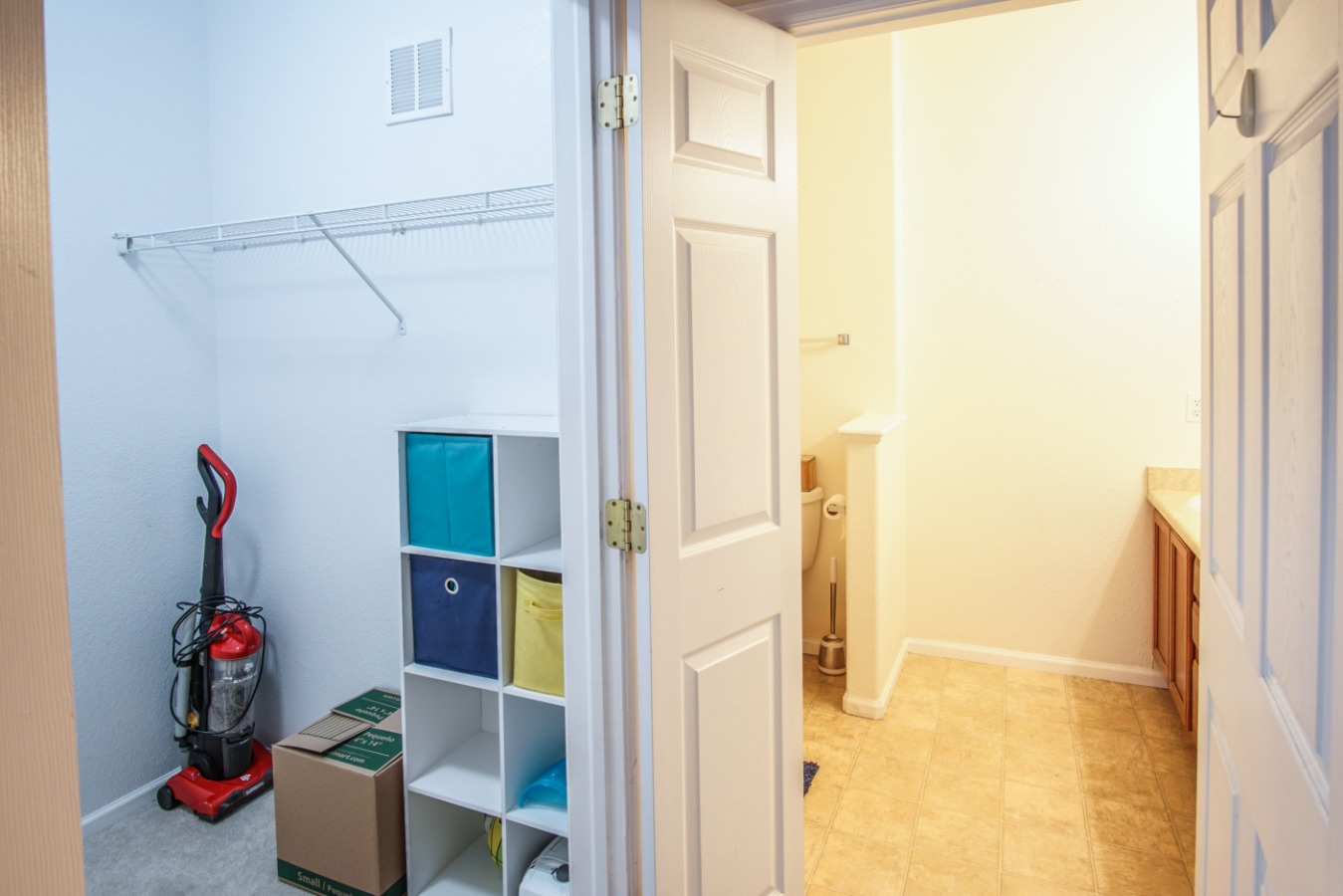 Large walk-in closet for master bedroom