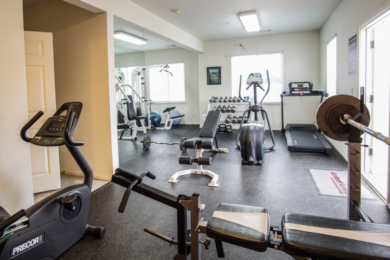 Large and bright workout room