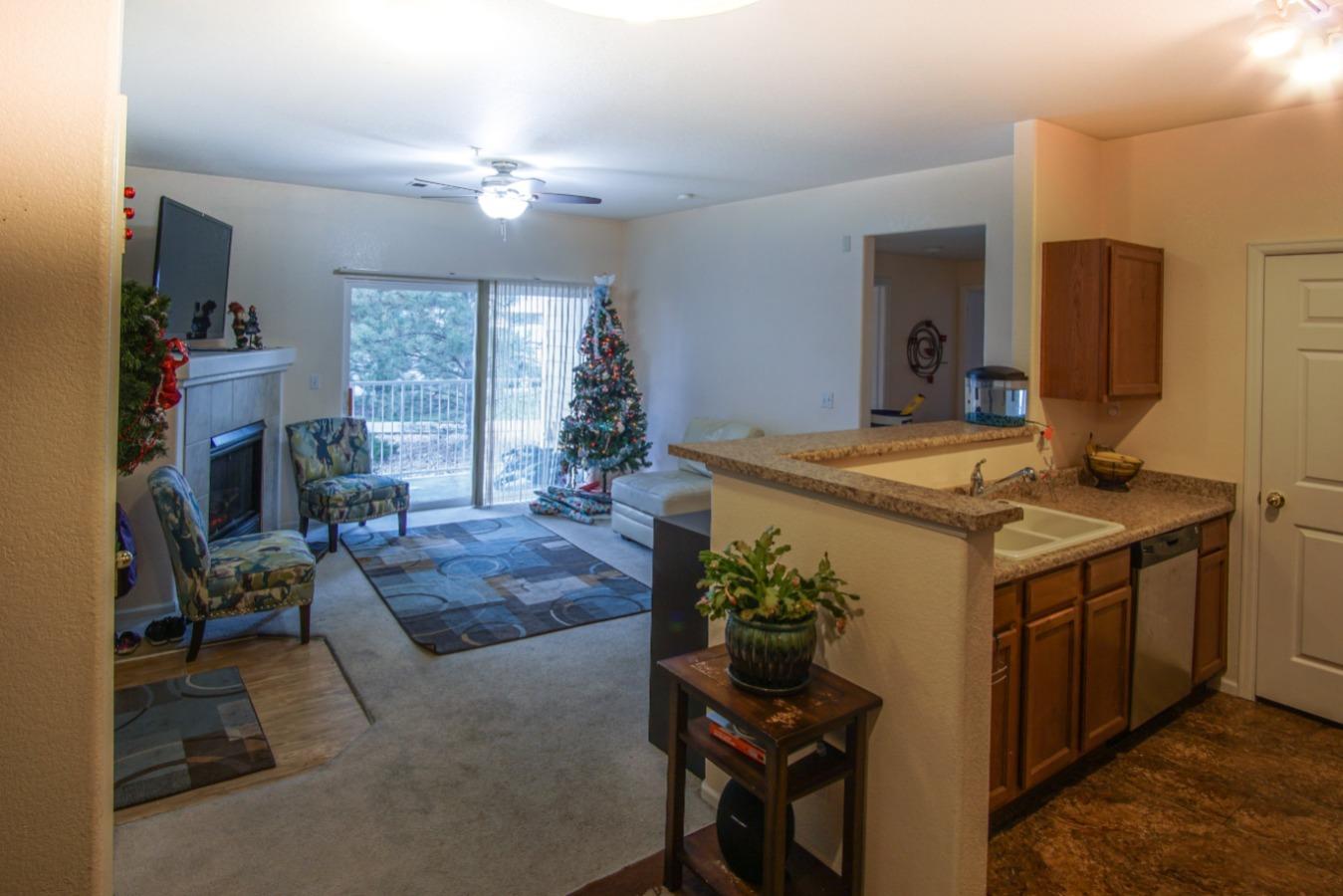 Open floor plan in living area