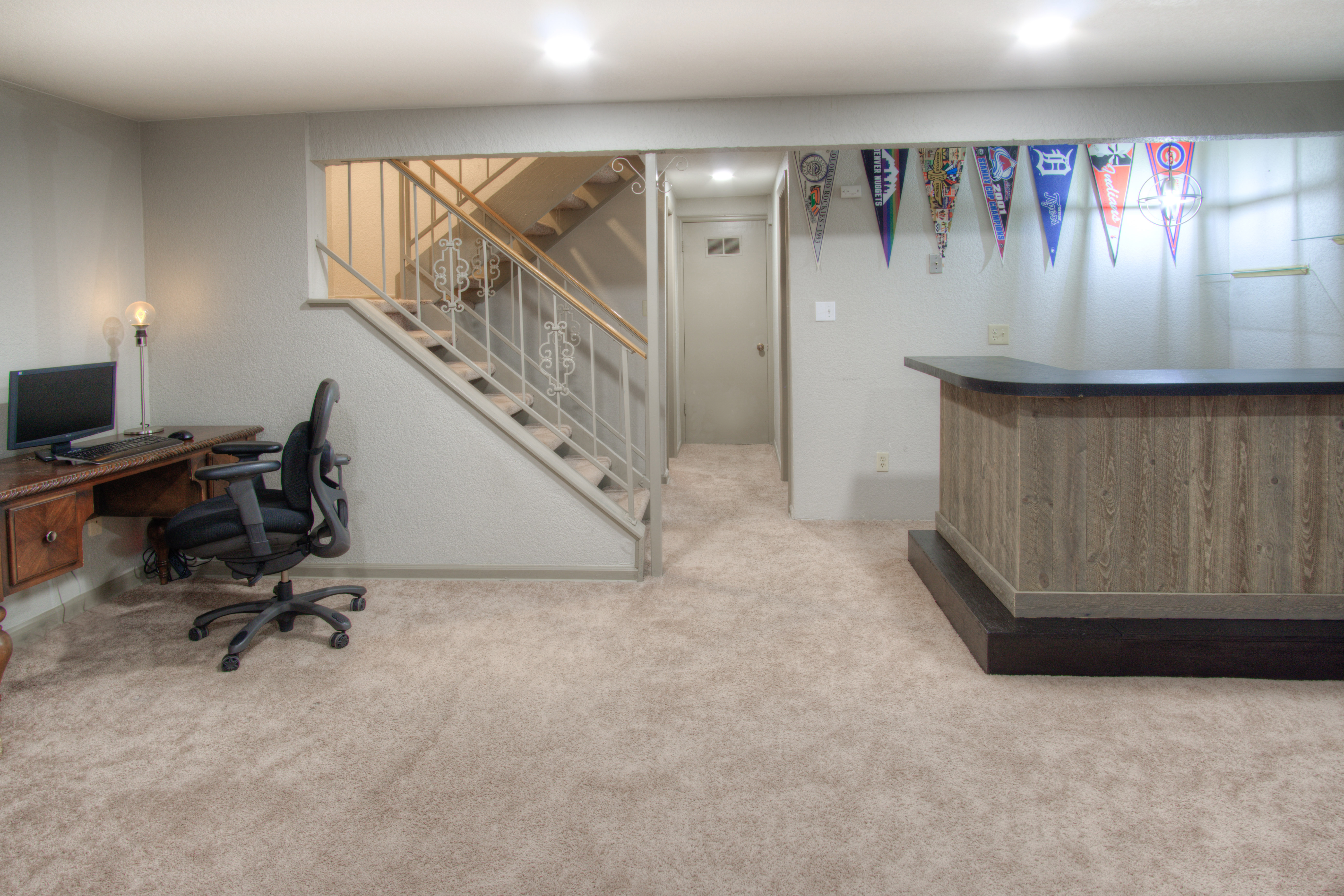 Roomy finished basement
