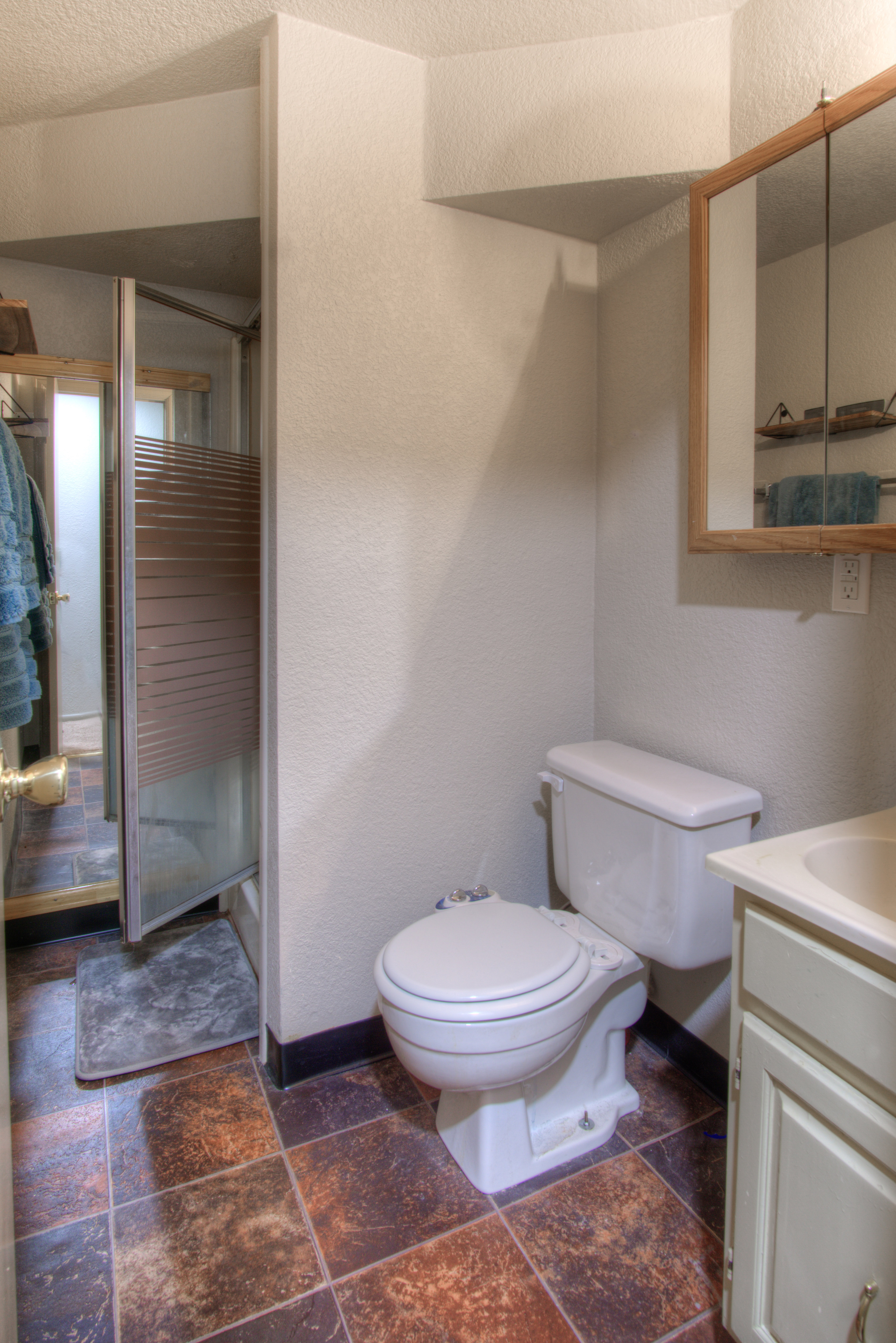 Another 3/4 bathroom with shower!