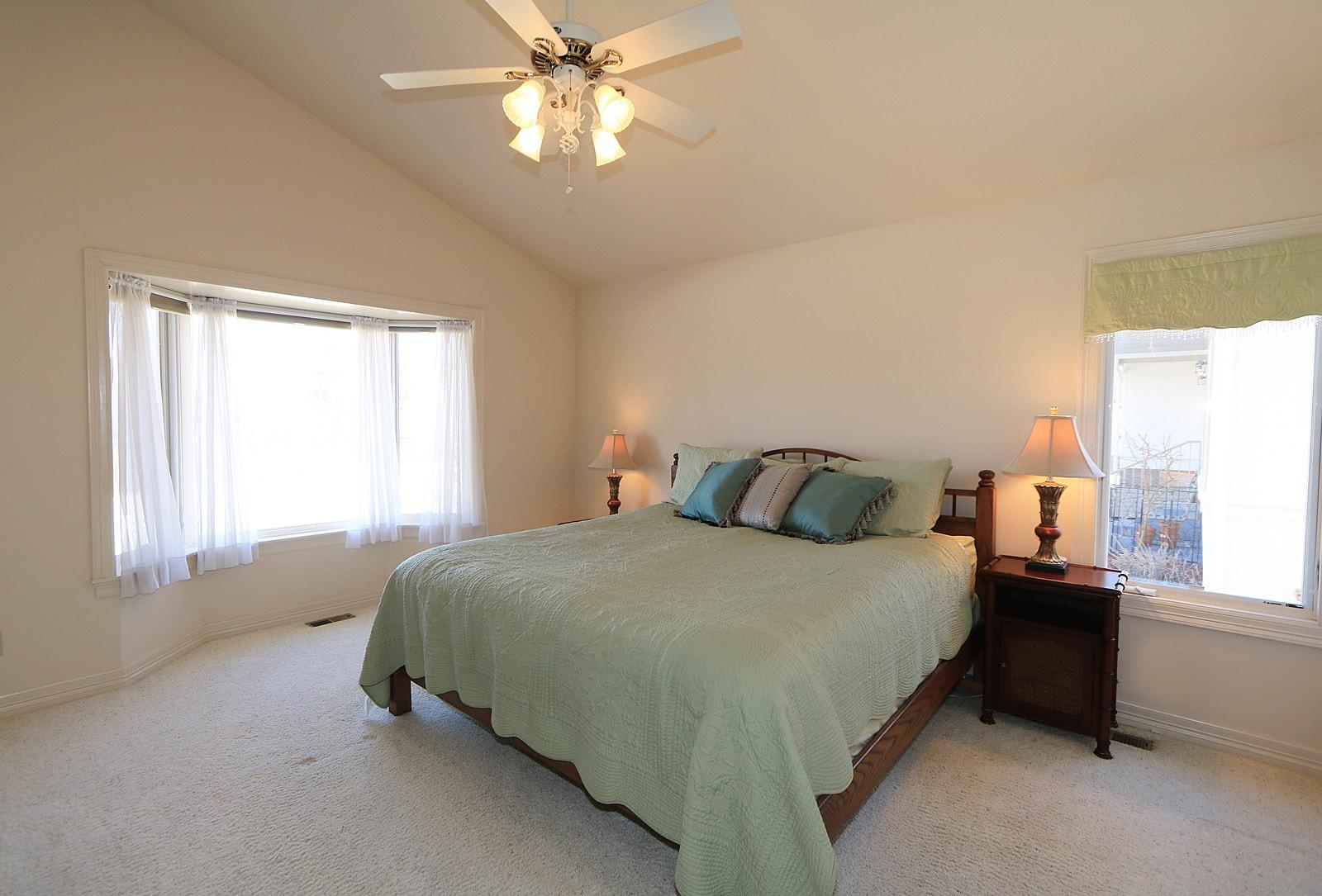 Vaulted, Light Master Bedroom