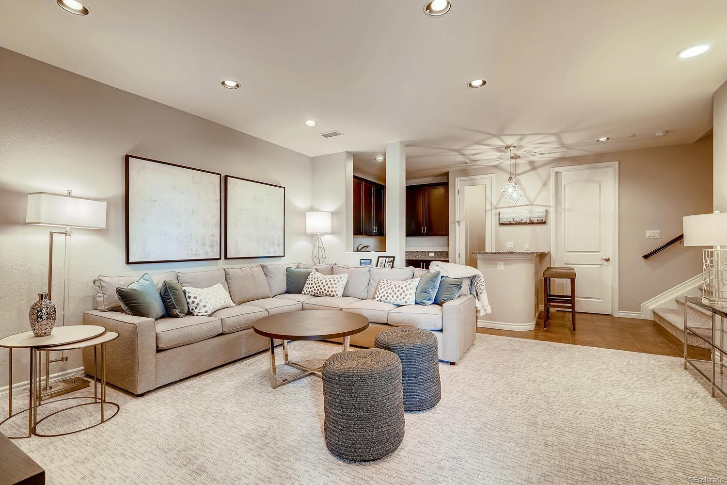 This updated Enoteca floor plan offers a larger wet bar area, more spacious fami
