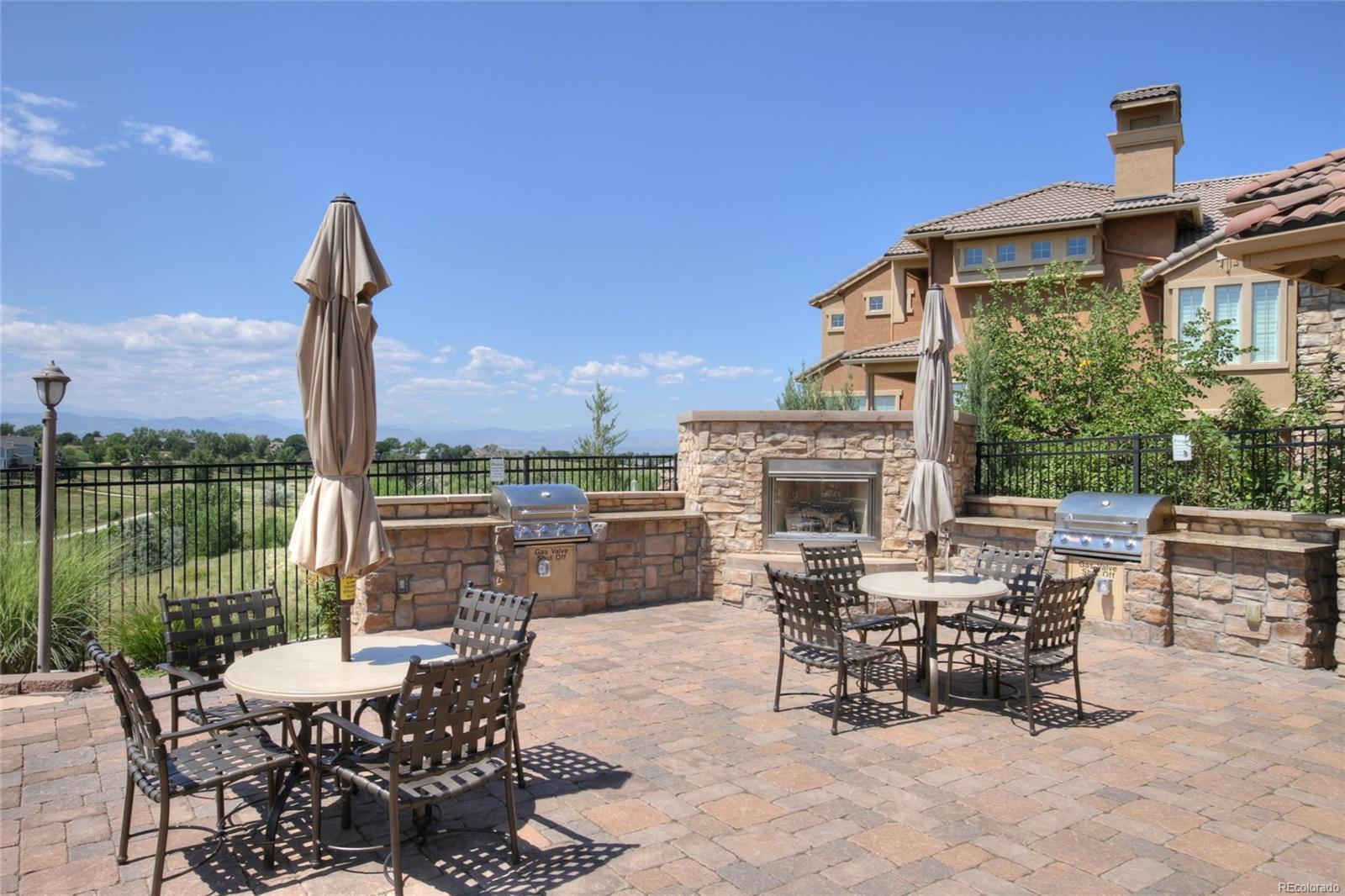 Pool area offers Gas Grills, Incredible Sunsets and Mountain Views