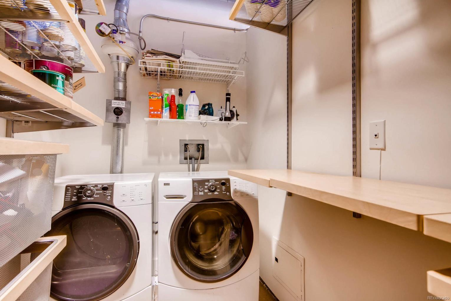 WASHER, DRYER & STORAGE!