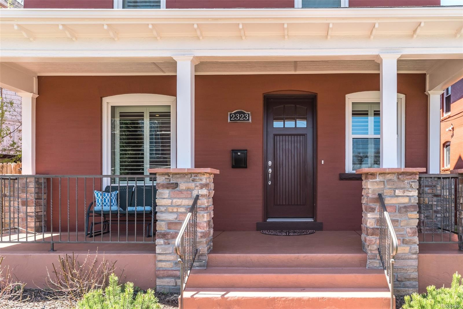 EVERYTHING IS NEW, NEW, NEW! FRONT PORCH, STAMPED CONCRETE WALK, NEW POWDER-COATED RAILINGS & BRICKWORK!