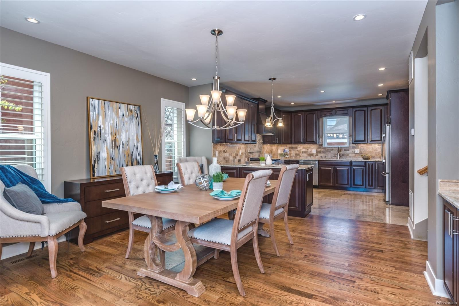 RECESSED LIGHTING IN THE LIVING ROOM, DINING ROOM & THE KITCHEN!