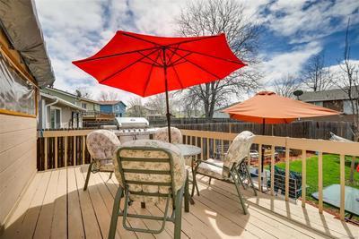 RELAX ON THE REAR DECK OUTSIDE THE SUNROOM!