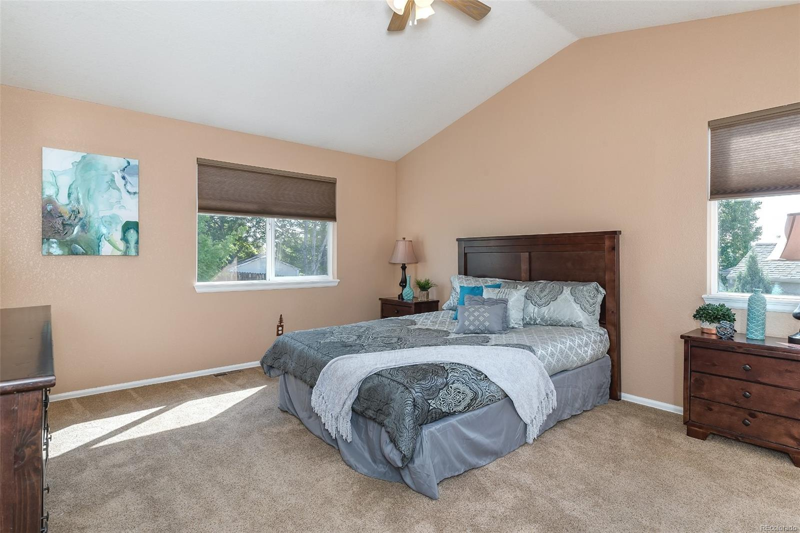Large master suite with ceiling fan!