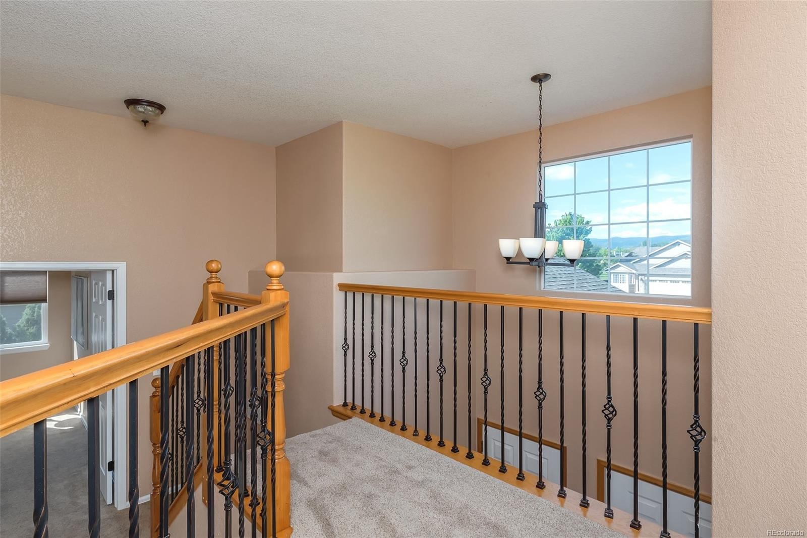 Upper level with new stair balusters!