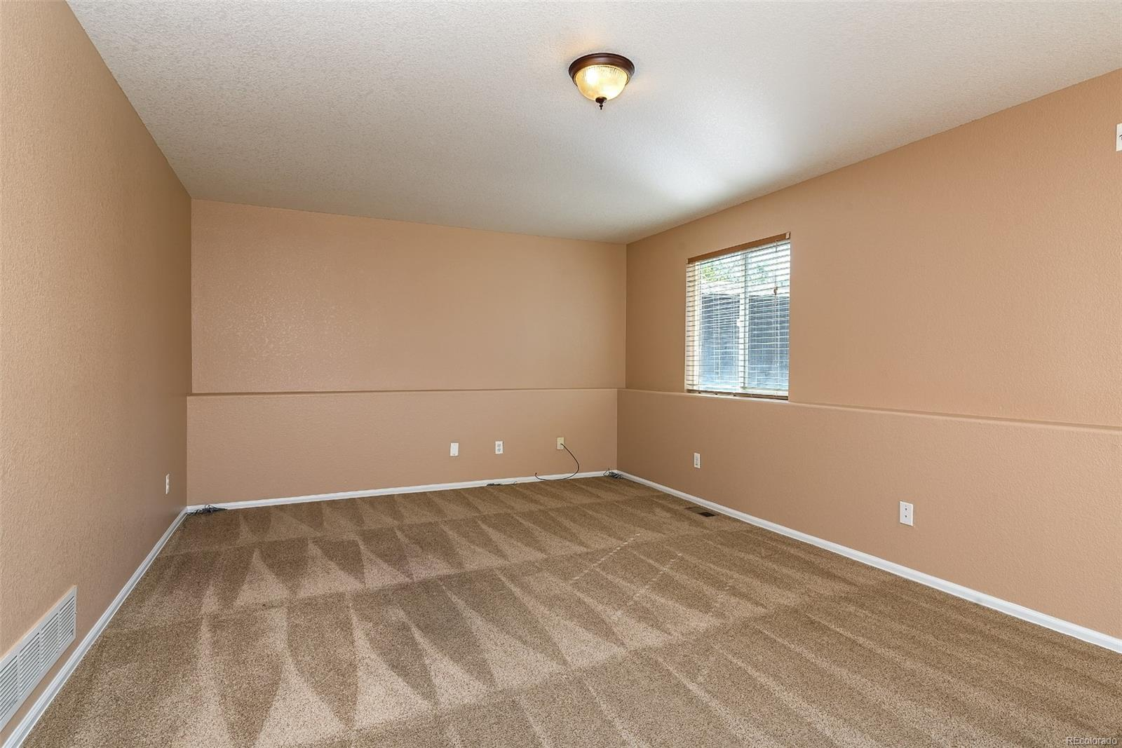 Huge lower level family room wired for surround sound!