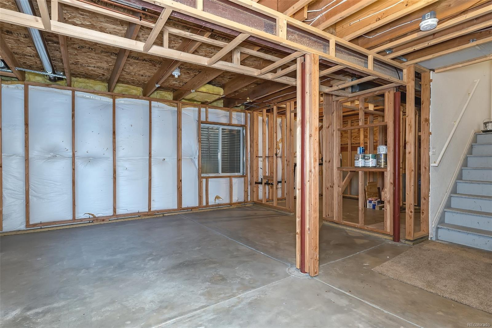 Basement framed & plumbed just waiting for your final touches!