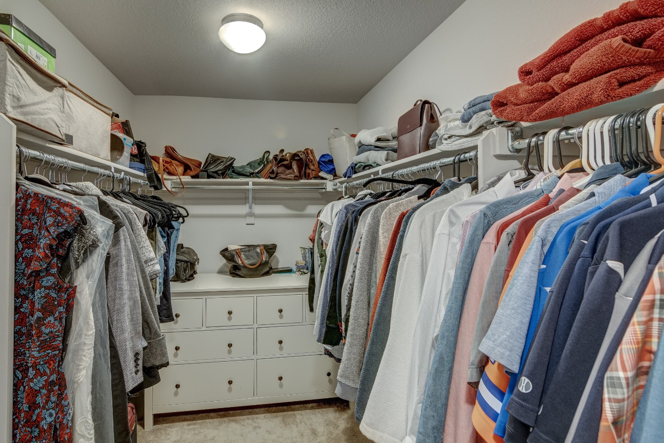 Large walk in closet off master Bath