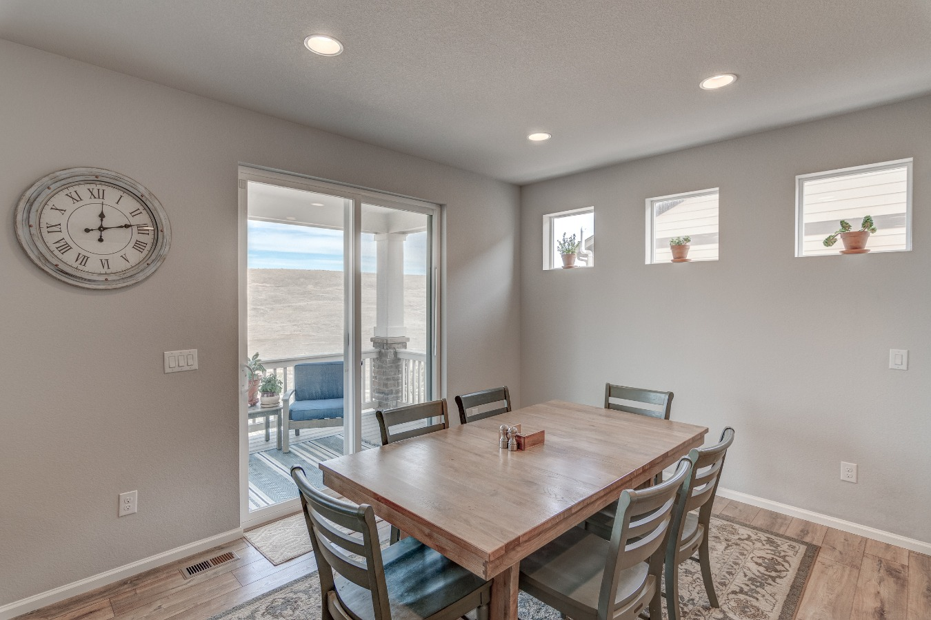 Dining Area leads to covered Deck