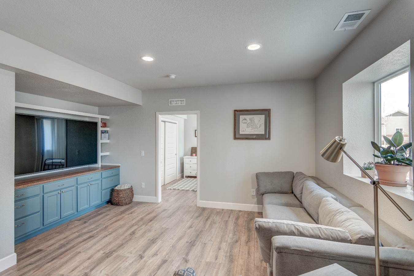 Built in Entertainment Center in Family Room
