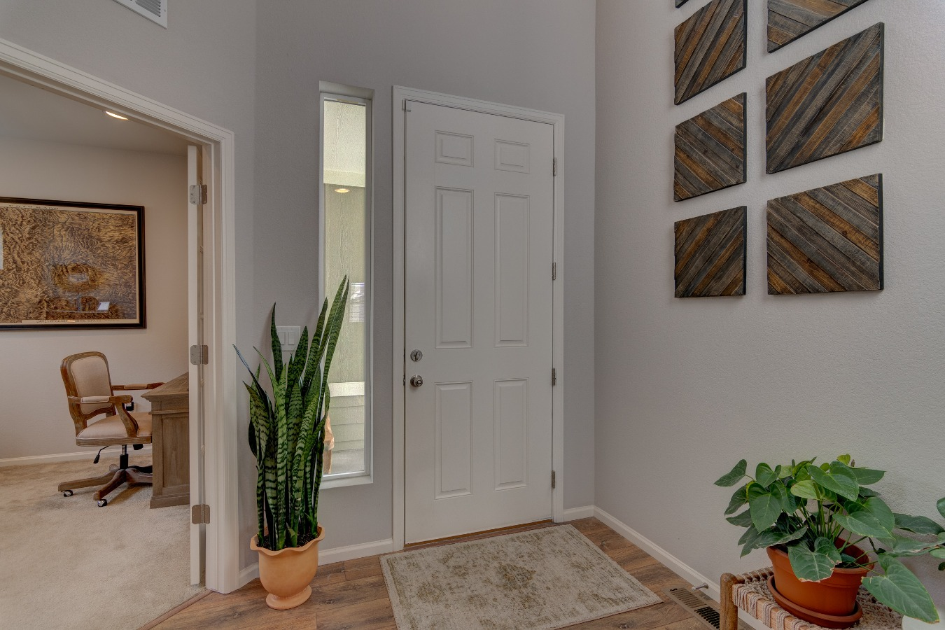 Front Door leads to a covered porch