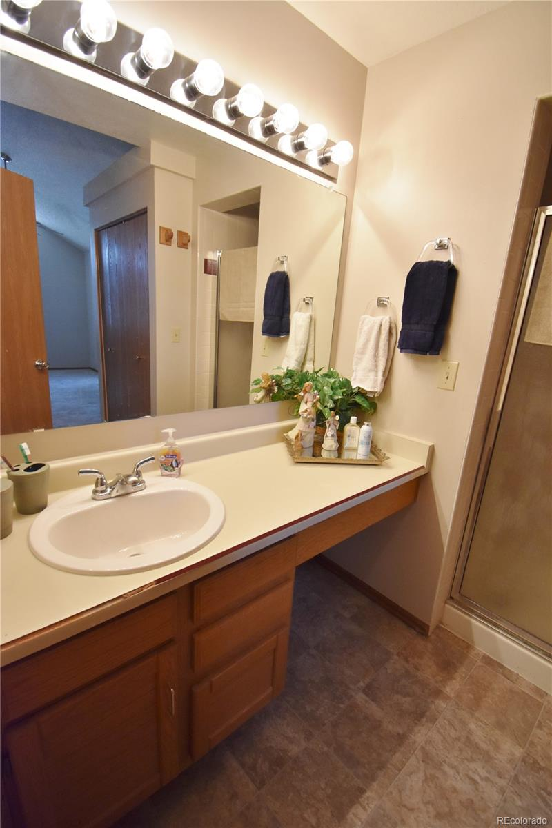 Masterbath has shower and toilet closet