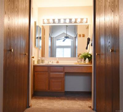 Masterbath has his and her walk-in closet.