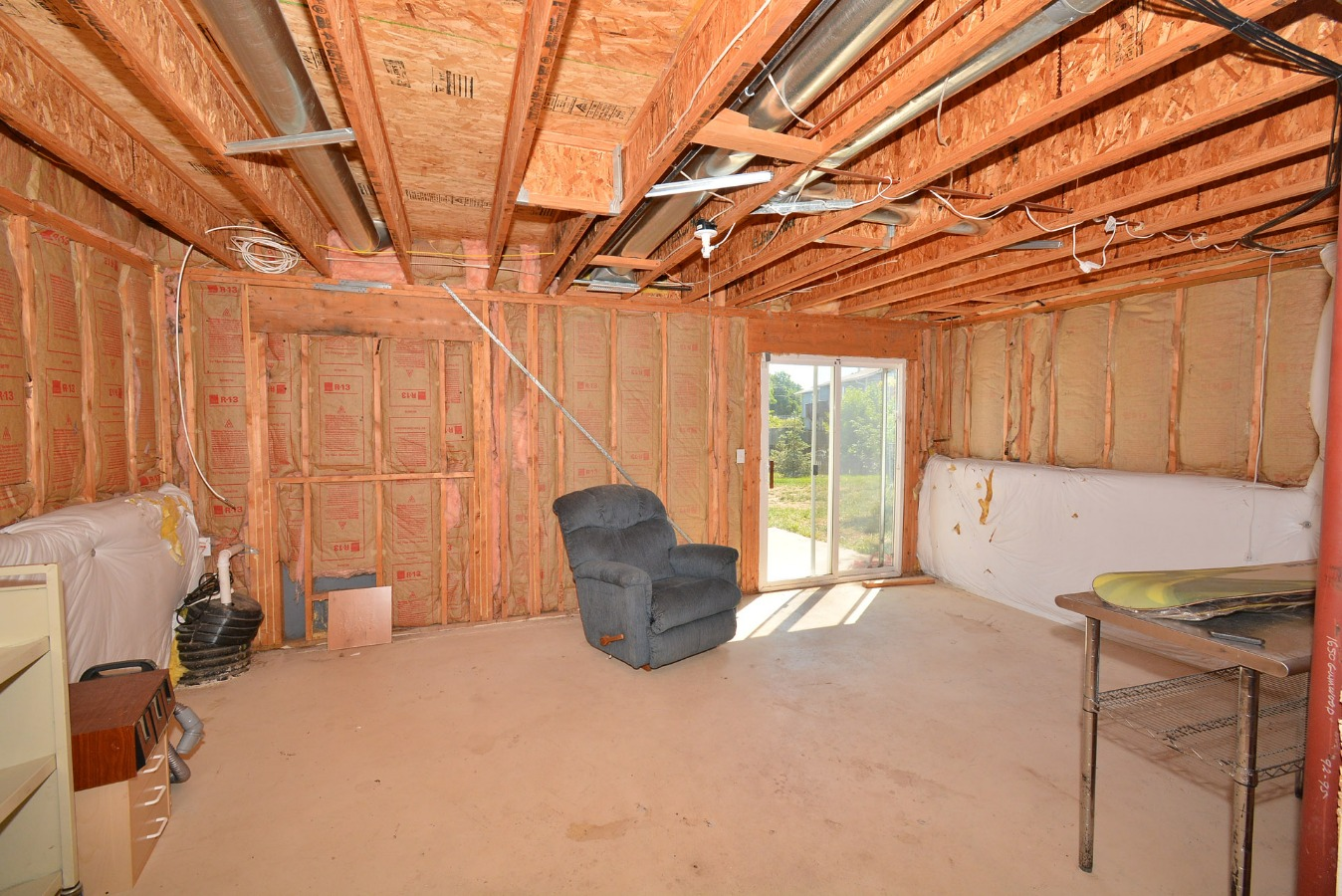 Unfinished Basement with Walk-out to Back Yard