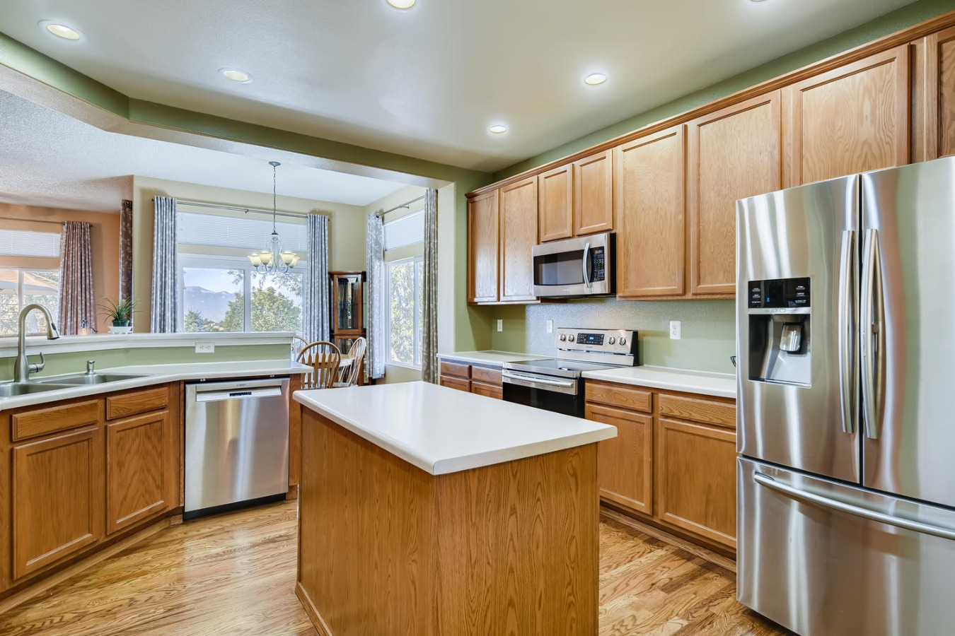 stainless stell appliances in the kitchen