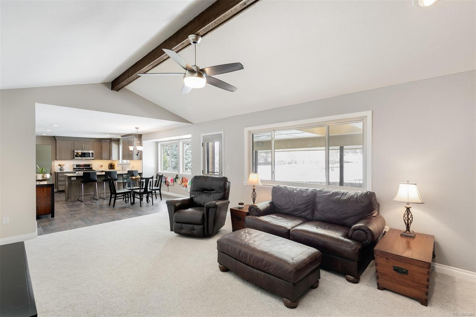 The connectivity and openness of the family room, breakfast nook and kitchen is ideal, as is the easy access to the outdoor living spaces of the back patio, hot tub and back yard.