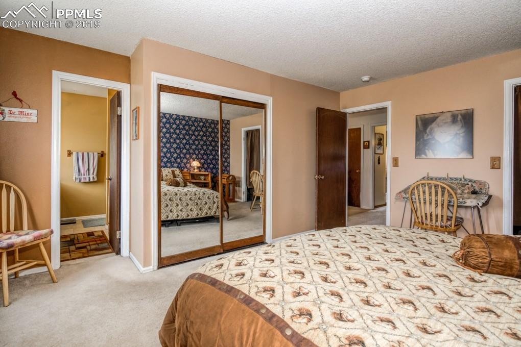 Master bedroom adjoins a 3/4 bath.